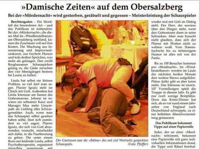 """Pressebericht """"Damische Zeiten"""""""